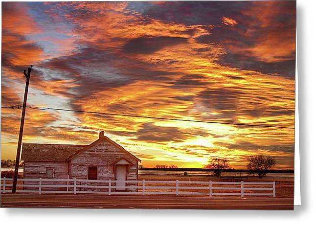 Country House Sunset Longmont Colorado Boulder County Greeting Card by James BO  Insogna