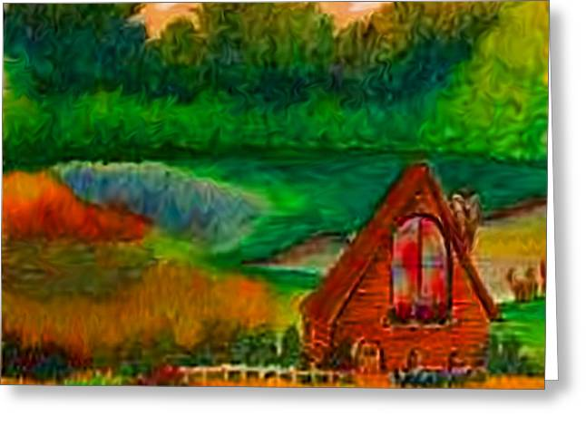 Country Greeting Card by Karen R Scoville