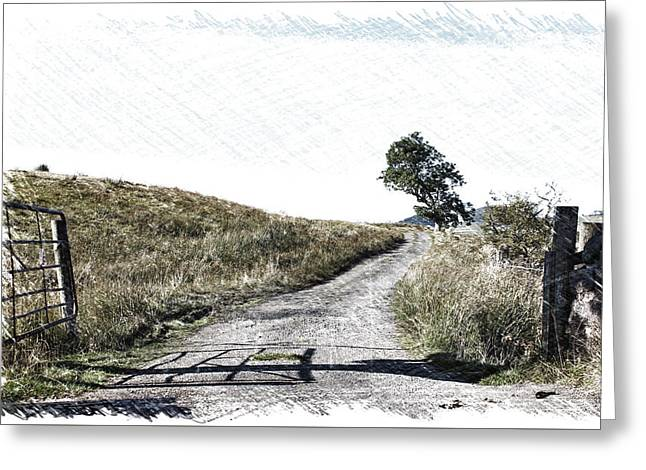 Country Lane Greeting Card by RKAB Works