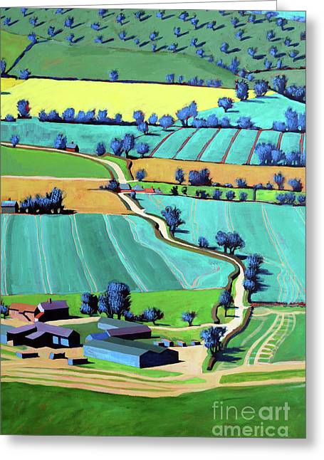 Country Lane Summer IIi Greeting Card