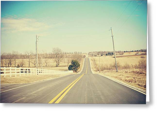 Country Lanes Greeting Card by Allison Ruiz