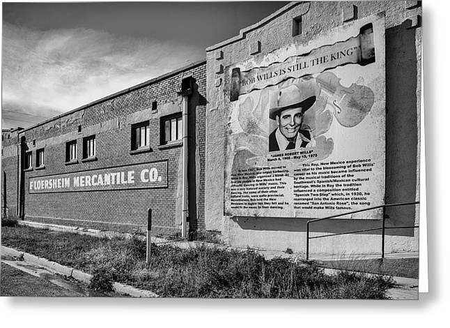 Country Legend Bob Wills In Roy New Mexico Greeting Card by Mary Lee Dereske