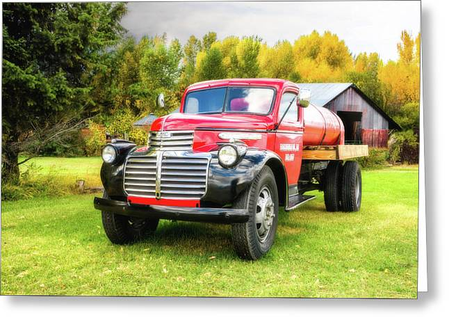 Country Life - 1946 Gmc Truck Greeting Card by TL Mair