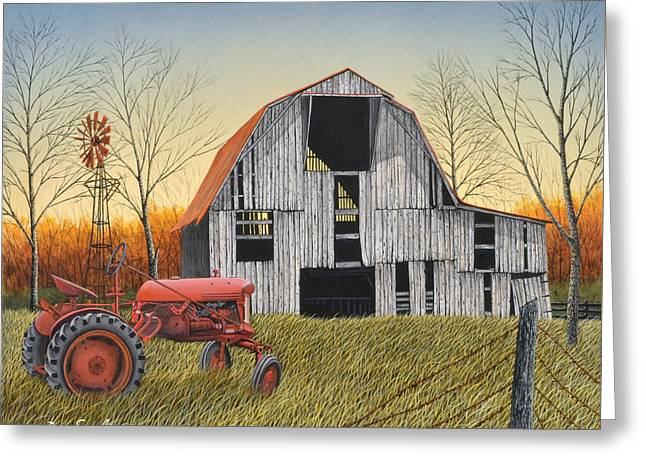 Country Life Greeting Card by Don Engler