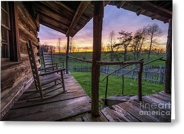 The Sitting Place Greeting Card by Anthony Heflin