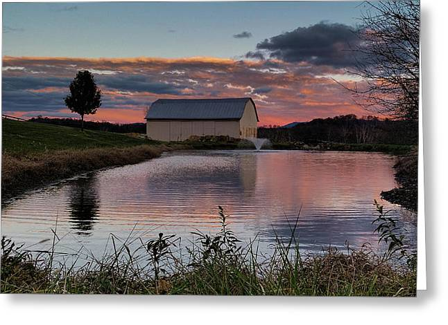 Country Living Sunset Greeting Card