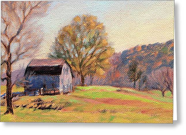 Country Morning Greeting Card by Bonnie Mason
