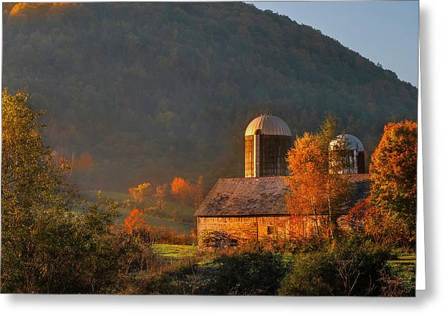 Country Mornings - West Pawlet Vermont Greeting Card by Thomas Schoeller