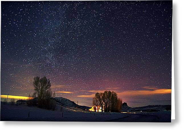 Country Night Life Greeting Card by Matt Helm