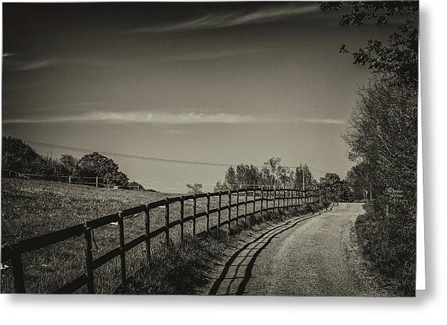 Country Path Greeting Card by Martin Newman