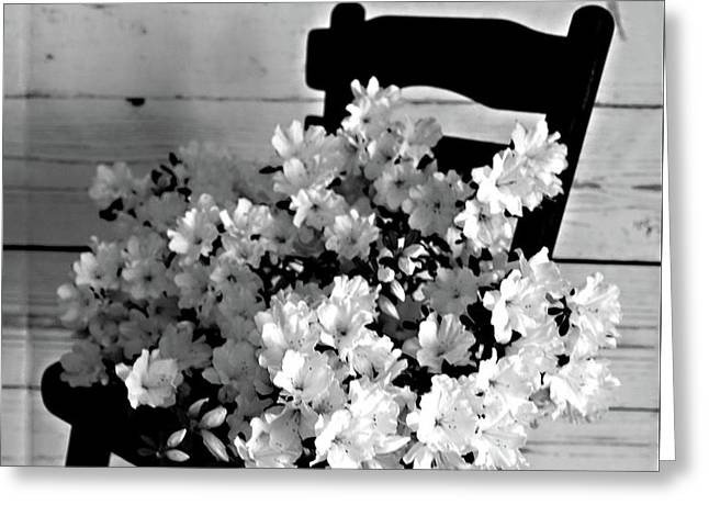 Country Porch In B And W Greeting Card by Sherry Hallemeier