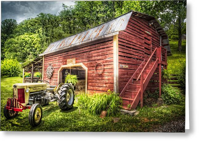 Country Reds Greeting Card by Debra and Dave Vanderlaan