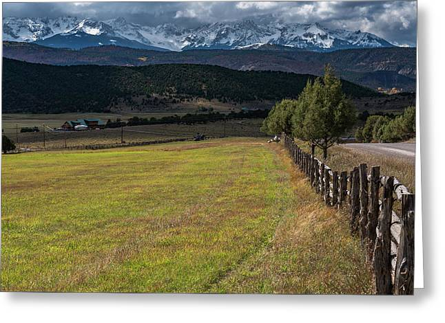 Greeting Card featuring the photograph Colorado Country by Chuck Jason