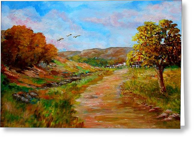 Country Road 2 Greeting Card
