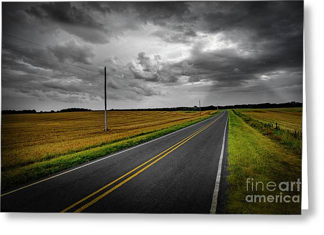 Greeting Card featuring the photograph Country Road by Brian Jones