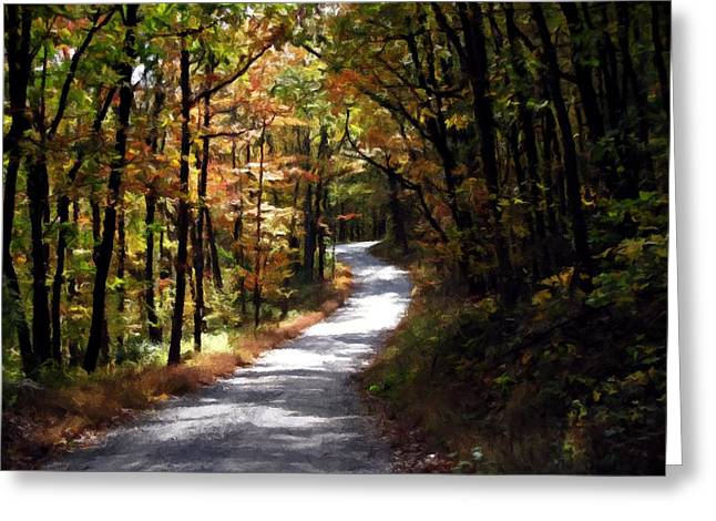 Greeting Card featuring the photograph Country Road by David Dehner
