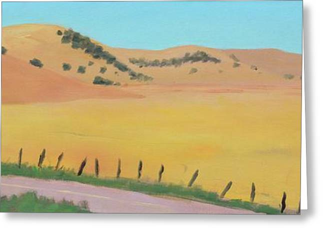 Country Road Greeting Card by Gary Coleman