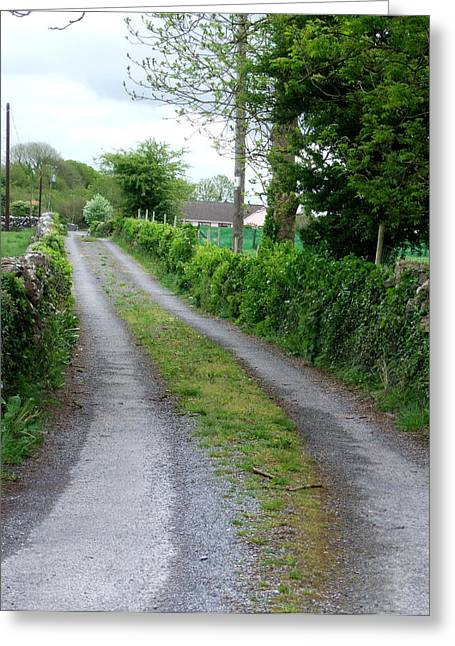 Country Road In Ireland Greeting Card by Jeanette Oberholtzer