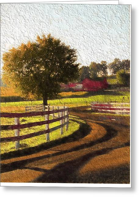 Country Road In Ohio Greeting Card by Dan Sproul