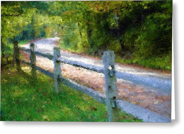 Country Road Greeting Card by Ralph Liebstein