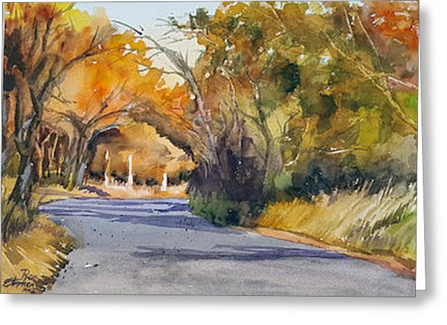 Country Road Greeting Card by Ron Stephens