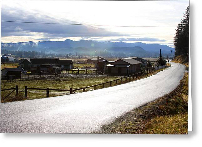 Greeting Card featuring the photograph Country Road by Sergey Nassyrov