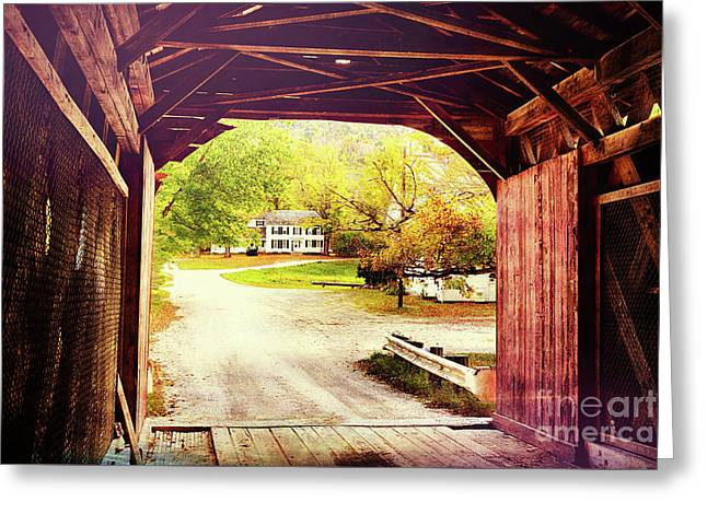 Country Road Take Me Home Greeting Card by George Oze