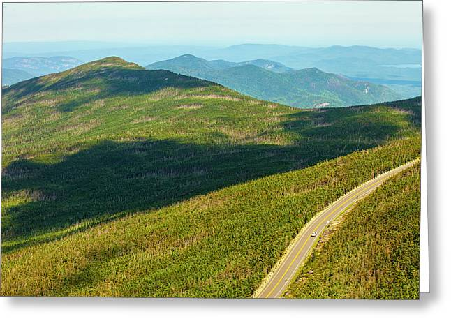 Country Road To My Home Whiteface Mountain New York Greeting Card by Paul Ge