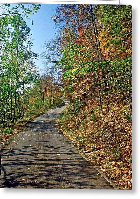 Greeting Card featuring the photograph Country Roads by Gary Wonning