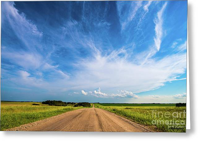 Country Roads IIi - Signed Edition Greeting Card by Ian McGregor