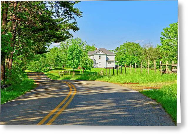 Country Roads Of America, Smith Mountain Lake, Va. Greeting Card