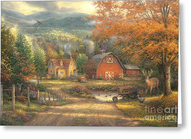 Country Roads Take Me Home Greeting Card by Chuck Pinson