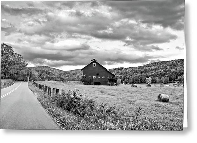 Country Road...west Virginia Bw Greeting Card