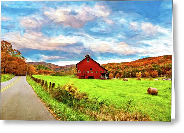 Country Road...west Virginia - Paint Greeting Card