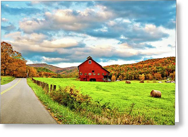 Country Road...west Virginia Greeting Card