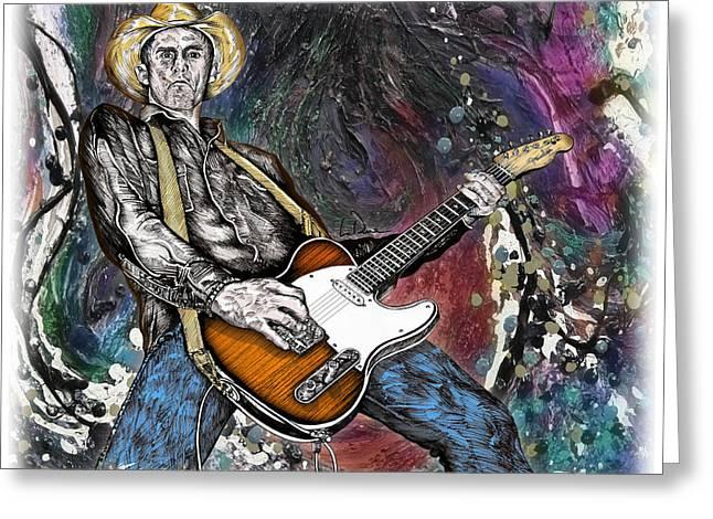 Country Rock Guitar Greeting Card