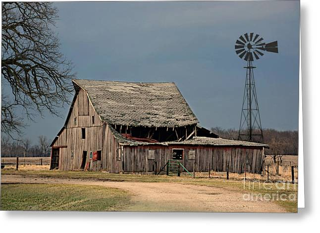 Country Roof Collapse Greeting Card