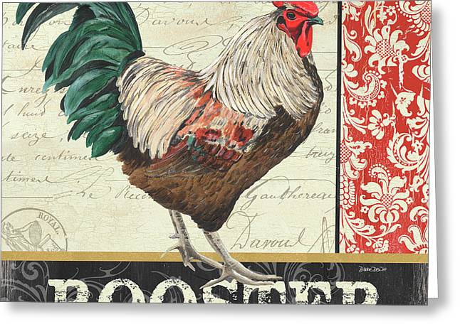 Country Rooster 1 Greeting Card by Debbie DeWitt