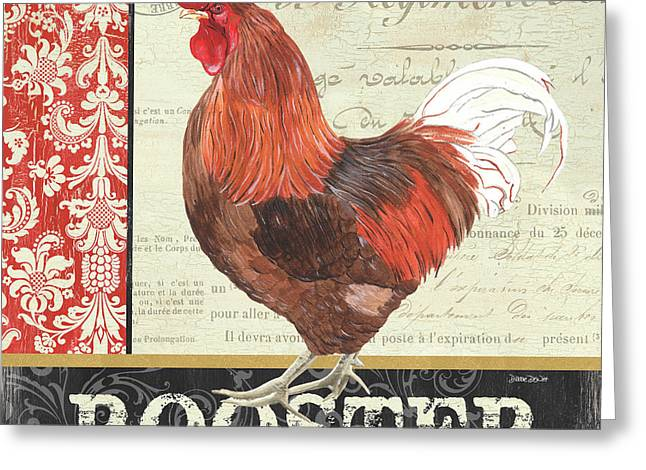 Country Rooster 2 Greeting Card by Debbie DeWitt