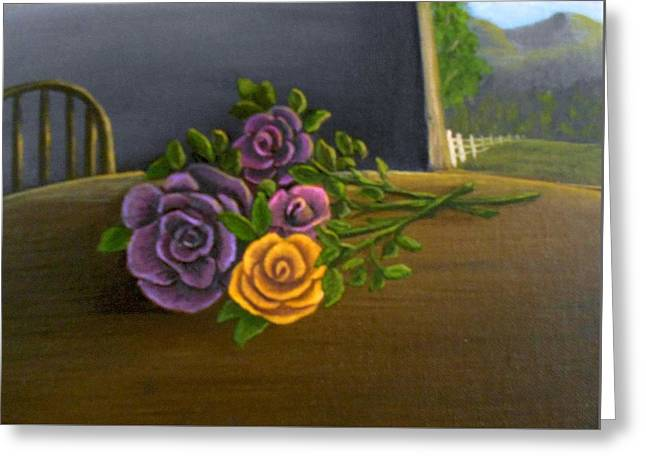 Country Roses Greeting Card by Sheri Keith