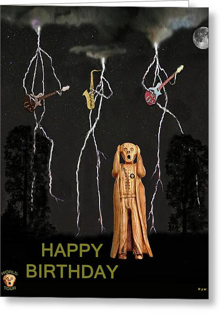 Country Scream Happy Birthday Greeting Card by Eric Kempson
