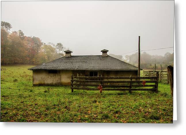 Country Shed Greeting Card by Terry Davis