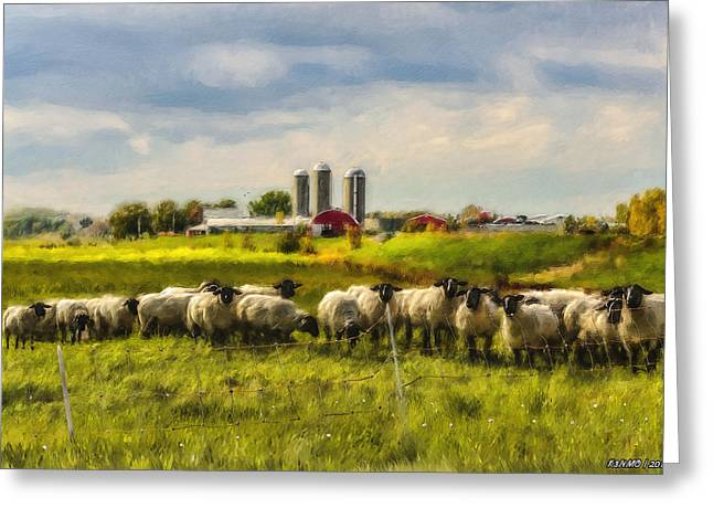 Country Sheep Greeting Card