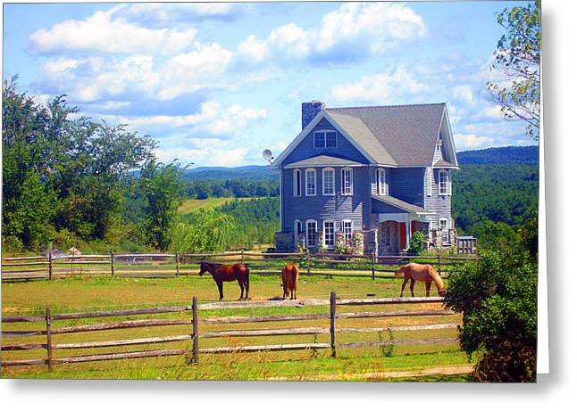 Country Splendor Greeting Card by Ashley Porter