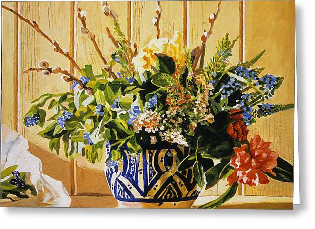 Country Spring Still Life Greeting Card