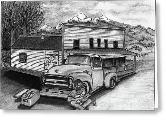 Country Store Greeting Card by Bruce Workman