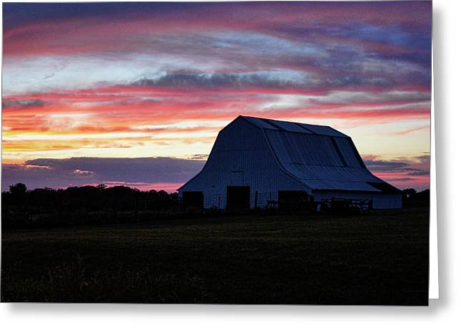 Greeting Card featuring the photograph Country Sunset by Cricket Hackmann