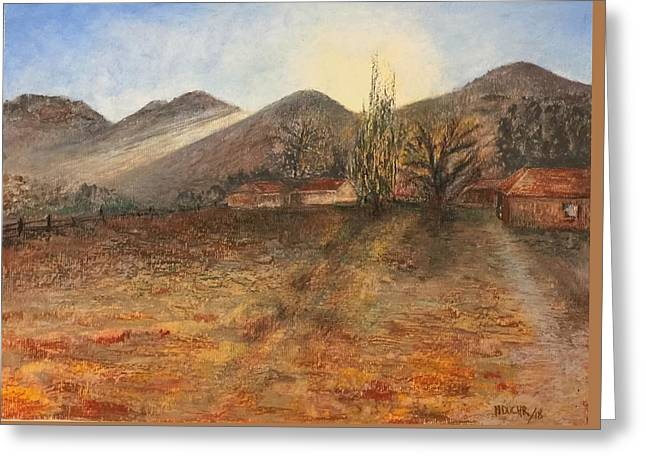 Greeting Card featuring the pastel Country Sunset by Norma Duch