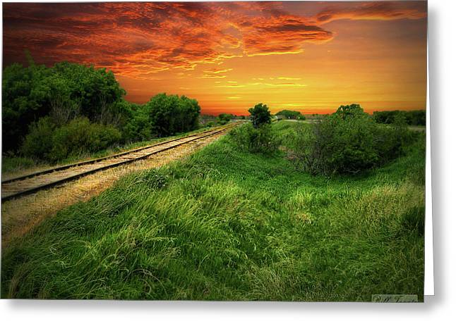 Country Tracks 2 Greeting Card