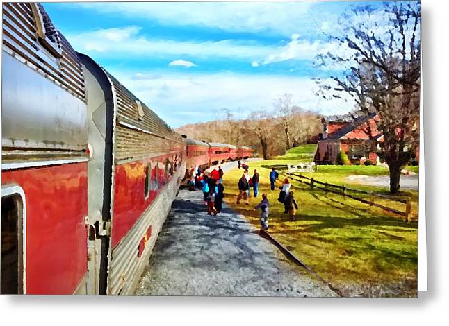 Country Train Depot Greeting Card